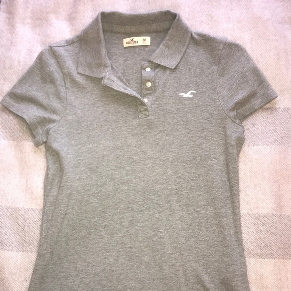 5cbdd4fde Hollister Tops | Grey Girls Slim Fit Polo | Poshmark